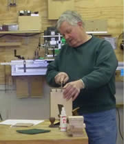 Jon Walpole of New Salem Woodworking in Tallula, IL